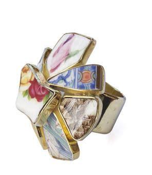 recycle broken crockery picture multi colored broken crockery unique jewelry