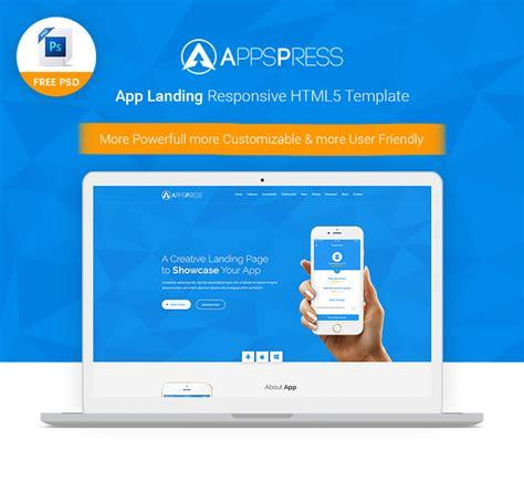 app template psd app landing free psd template free design resources