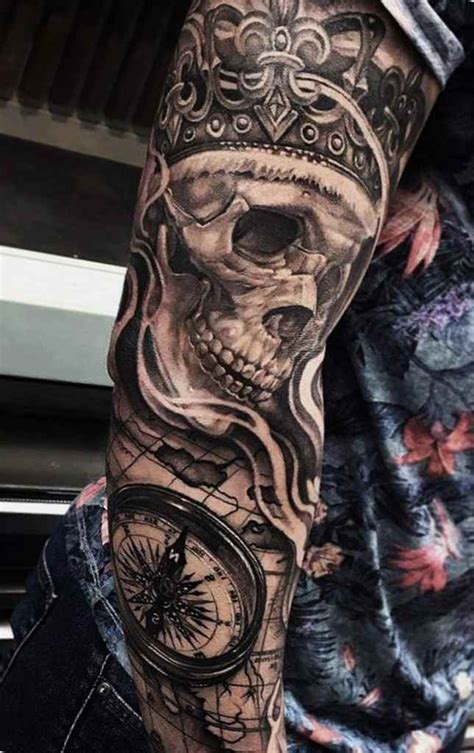 skull full sleeve tattoo designs awesome skull designs ideas for and