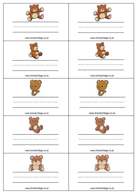 teddy name badges