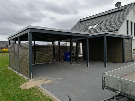 Garage Mit Carport Und Abstellraum 2389 by Reihencarport Und Carport Mit Seitlichem Abstellraum