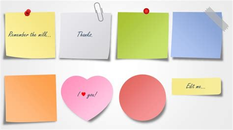 sticky note template sticky notes for powerpoint shapechef