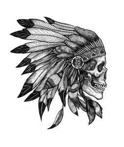 25 best ideas about indian skull tattoos on pinterest indian skull