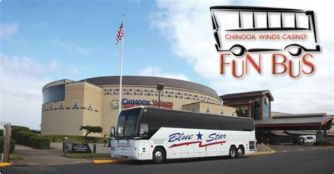 ride our bus to come play chinook winds casino