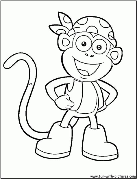 coloring pages dora boots boots monkey animal quot dora the explorer quot coloring pages