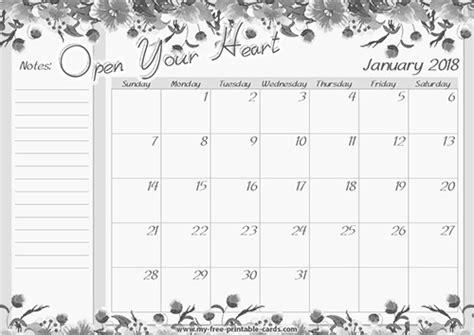 printable calendar page january 2018 2018 calendar printable download free printable