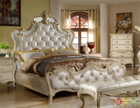 Antique Tufted Headboard by Sanctuary Antique White Bed With Tufted