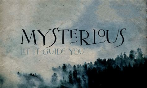 Are You The Mysterious Type by Mysterious Typeface Befonts