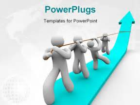 Teamwork Powerpoint Template by Powerpoint Template Team Works Together To Pull Up A