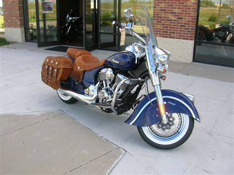 2014 Springfield Blue Indian Chief Vintage Motorcycle