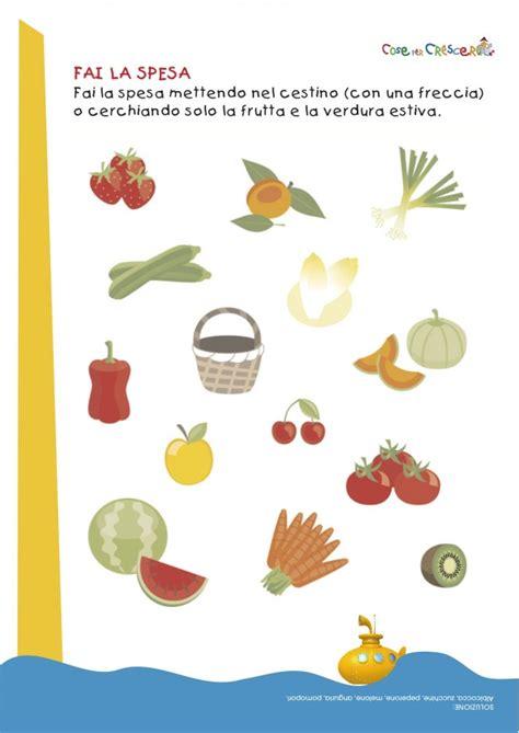 schede educazione alimentare fai la spesa cose per crescere