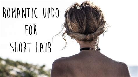 Bohemian Updo For Short Hair: Easy Chignon   YouTube