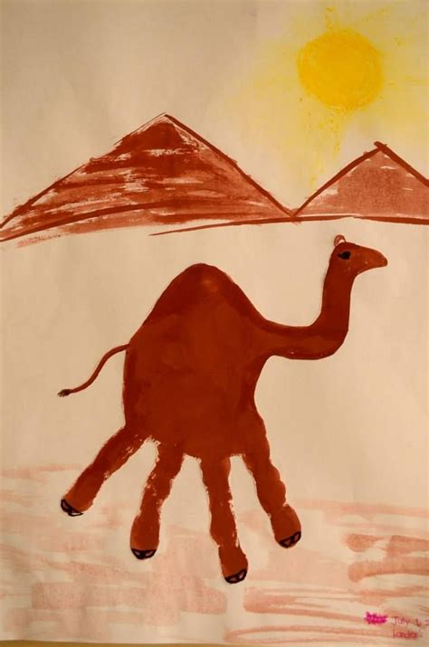 camel crafts for how to make a camel handprint arts and crafts for