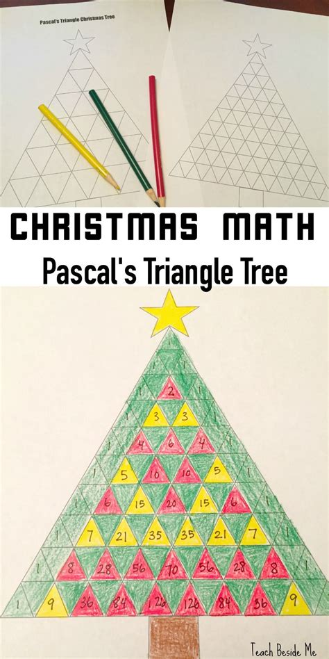 triangle pattern algebra pascal s triangle christmas tree math christmas math
