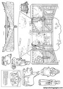 free coloring pages nativity template