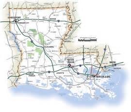 louisiana driving map louisiana map index