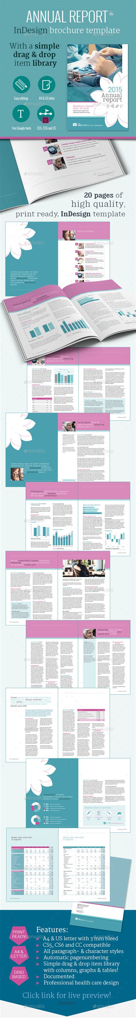 health care annual report brochure template by