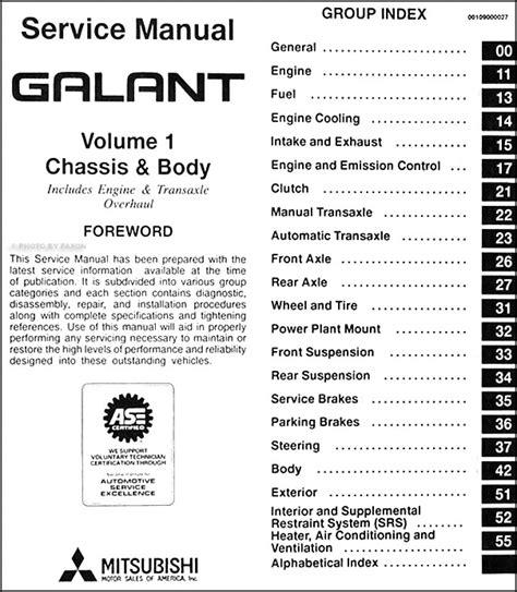 2005 mitsubishi galant wiring diagram mitsubishi galant