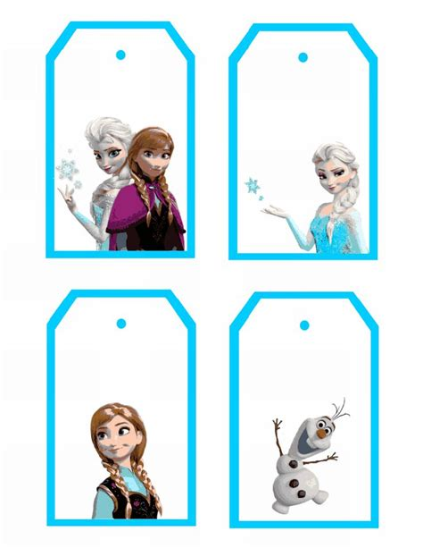 olaf printable gift tags frozen clipart name tag pencil and in color frozen