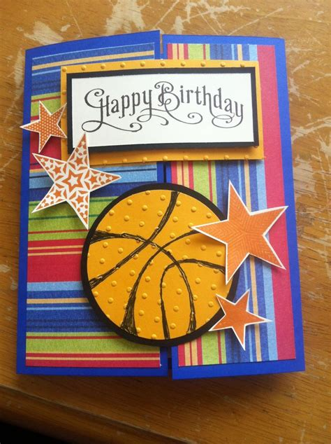 Basketball Birthday Cards Birthday Card Basketball Sport Cards Pinterest
