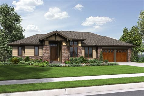 Craftsman Floor Plans prairie style house plan 3 beds 3 5 baths 2694 sq ft
