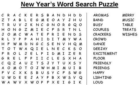 printable mazes word searches 7 best images of new year printable maze puzzles new