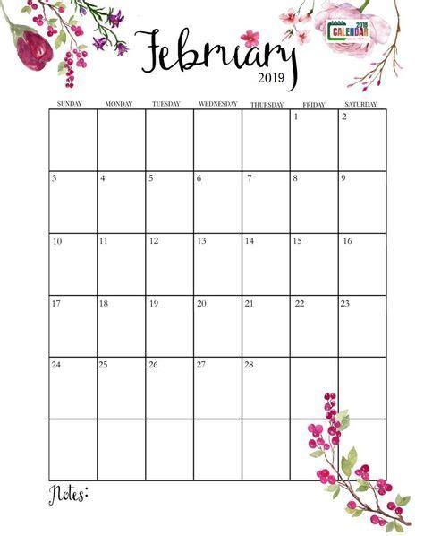 cute february  calendar calendar  printable  printable calendar printable