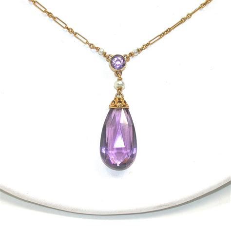amethyst pendant necklace from ellenring on ruby