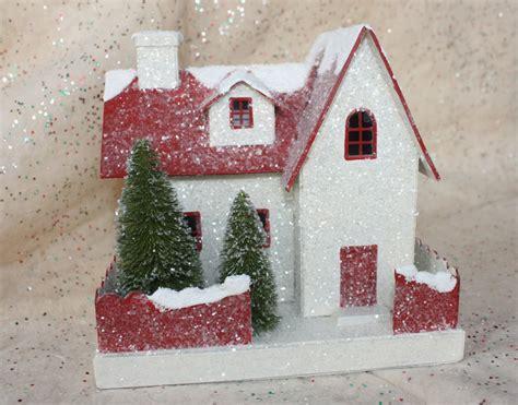 g wurm christmas houses vintage glitter house