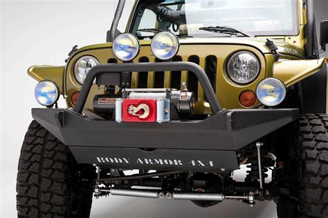 Jeep Metal Bumper Armor 4x4 Jk 19531 Black Steel Front