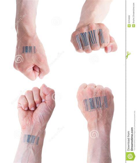 barcode tattoo audio biometric id concept royalty free stock image image