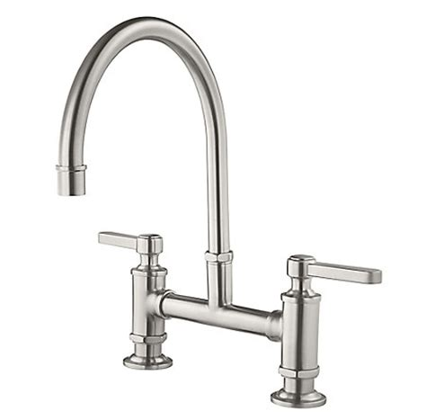 bridge kitchen faucets stainless steel port bridge kitchen faucet gt31 tds pfister faucets