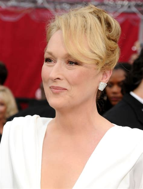 evening hairstyles for over 50s meryl streep s formal updo haute hairstyles for women