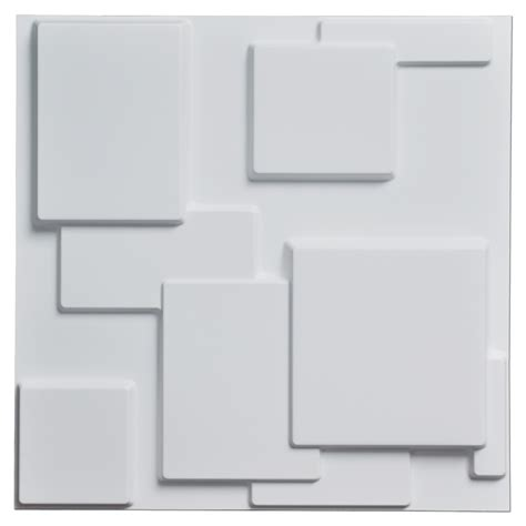 Stick On Backsplash Tiles For Kitchen by Decorative Tiles 3d Wall Panels White Squares 12 Tiles 32 Sf