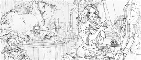 the witcher coloring book books the beautiful sketches the witcher 3 s ending