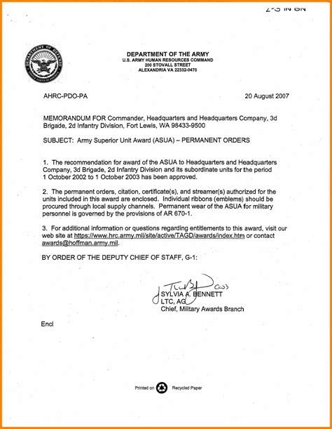 army eo appointment letter army letter of recommendation sle cover letter templates