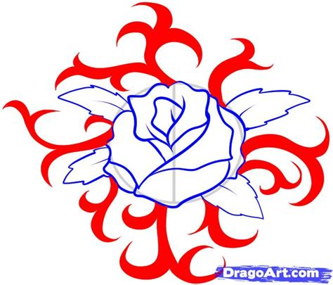 how to draw a tattoo rose step by step how to draw a step by step tattoos pop