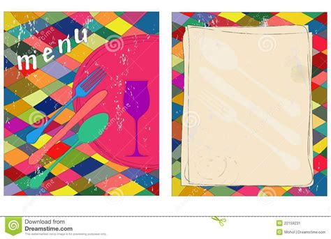 blank menu card templates blank menu card stock vector illustration of invite