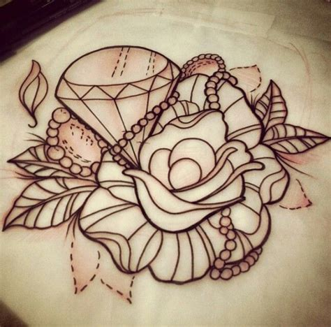 Rose Diamond Tattoo Designs | 44 diamond tattoos designs and pictures collection
