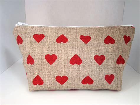 Handmade Oilcloth Bags - handmade by linzi hearts linen oilcloth make up bag