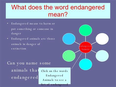 endangered animals powerpoint 1