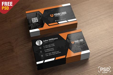 complimentary card template psd premium business card templates free psd psd zone