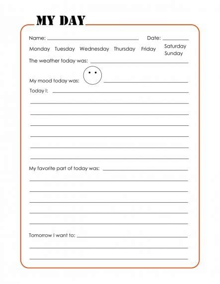 printable journal pages kindergarten the journal pages the journal summer and journal pages
