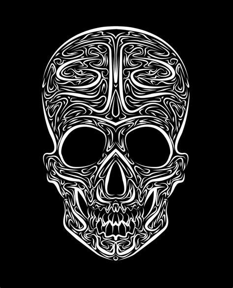 skull tribal vector  mentalmetal  deviantart