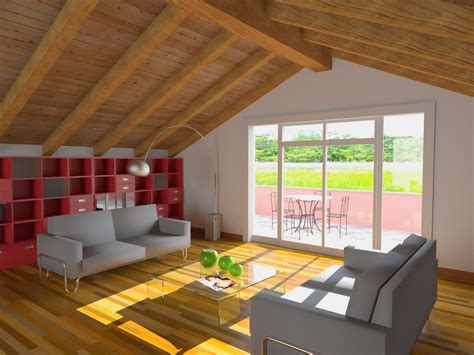 arredare mansarda moderna moderno ed innovativo salotto realizzato in mansarda