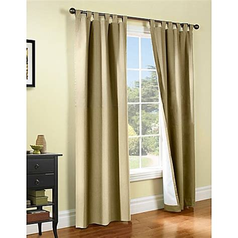 khaki curtains buy thermalogic 174 weathermate 72 inch tab top window