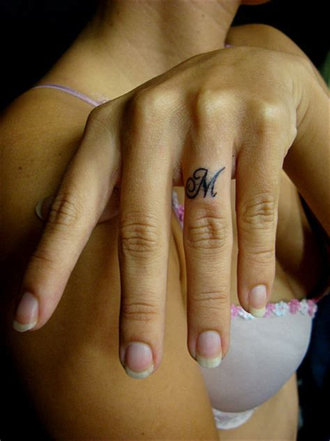 tattoo initials finger tattoos designs girl finger with tattoo design letters