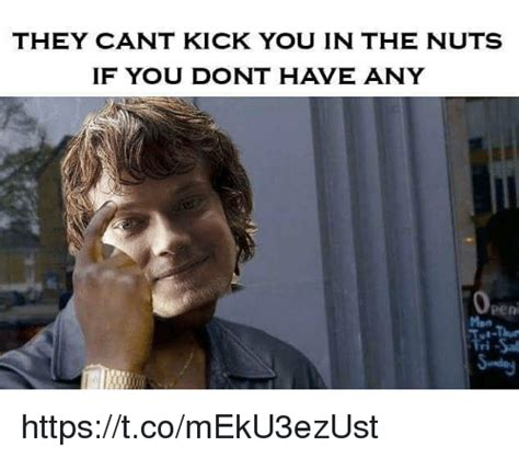 Kicked In The Nuts Meme