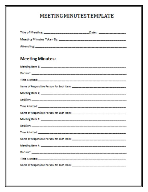 minutes for meetings template meeting minutes template mobawallpaper