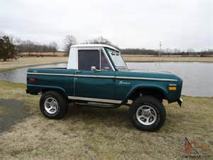 1972 ford bronco sport original half cab with auto ps pb nice driver